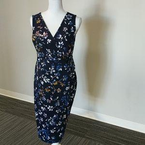MOTHERHOOD Maternity Wrap Dress Blue Size Medium